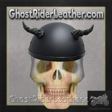 Bull Horns - Helmet Horns - Ogre Horns - Motorcycle Helmet Accessories / SKU GRL-HA-11B-HI-bungee motorcycle helmet holder-Ghost Rider Leather