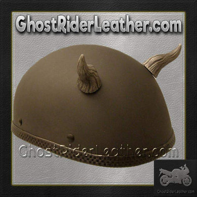 Bull Horns - Helmet Horns - Demon Horns - Motorcycle Helmet Accessories / SKU GRL-HA-14S-HI-bungee motorcycle helmet holder-Ghost Rider Leather