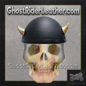 Bull Horns - Helmet Horns - Small Devil Horns - Motorcycle Helmet Accessories / SKU GRL-HA-16B-HI-bungee motorcycle helmet holder-Ghost Rider Leather
