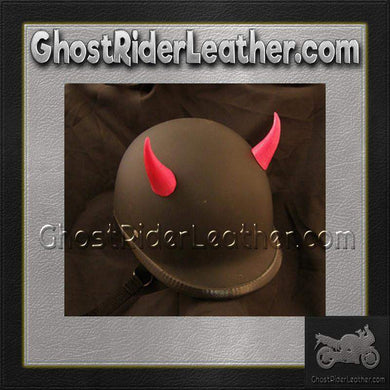 Bull Horns - Helmet Horns - Red Devil Horns - Motorcycle Helmet Accessories / SKU GRL-HA-16RED-HI-bungee motorcycle helmet holder-Ghost Rider Leather