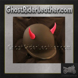 Bull Horns - Helmet Horns - Red Devil Horns - Motorcycle Helmet Accessories / SKU GRL-HA-16RED-HI - Ghost Rider Leather