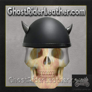 Bull Horns - Helmet Horns - Silver Devil Horns - Motorcycle Helmet Accessories / SKU GRL-HA-19S-HI - Ghost Rider Leather