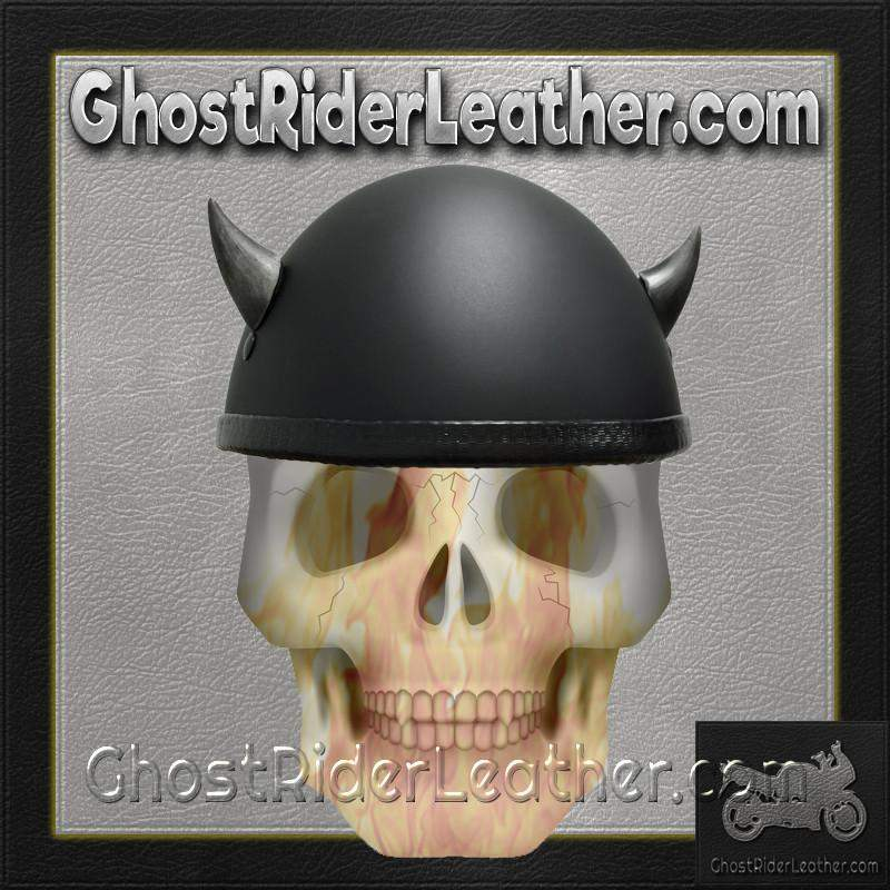 Bull Horns - Helmet Horns - Silver Devil Horns - Motorcycle Helmet Accessories / SKU GRL-HA-19S-HI-bungee motorcycle helmet holder-Ghost Rider Leather