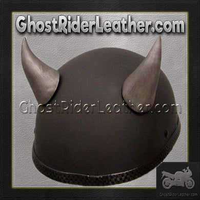 Bull Horns - Helmet Horns - Large Curved Horns - Motorcycle Helmet Accessories / SKU GRL-HA-21S-HI-bungee motorcycle helmet holder-Ghost Rider Leather