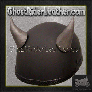 Bull Horns - Helmet Horns - Large Curved Horns - Motorcycle Helmet Accessories / SKU GRL-HA-21S-HI - Ghost Rider Leather