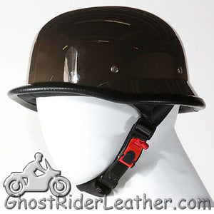 German Novelty Motorcycle Helmet in Black Chrome - SKU GRL-H102-01-NEW-DL
