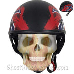 DOT Rebel Flag Motorcycle Helmet - Flat Finish - SKU GRL-HS1100-REBEL-FLAT-DL