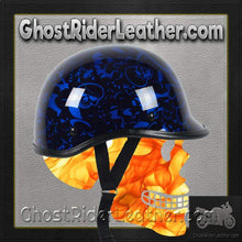 Polo Jockey Novelty Motorcycle Helmet Boneyard Colors / SKU GRL-BY-POLO-NOV-HI-novelty motorcycle helmet-Ghost Rider Leather