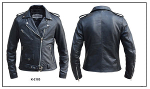 UNIK Ladies Premium Lambskin Leather Jacket - Ghost Rider Leather