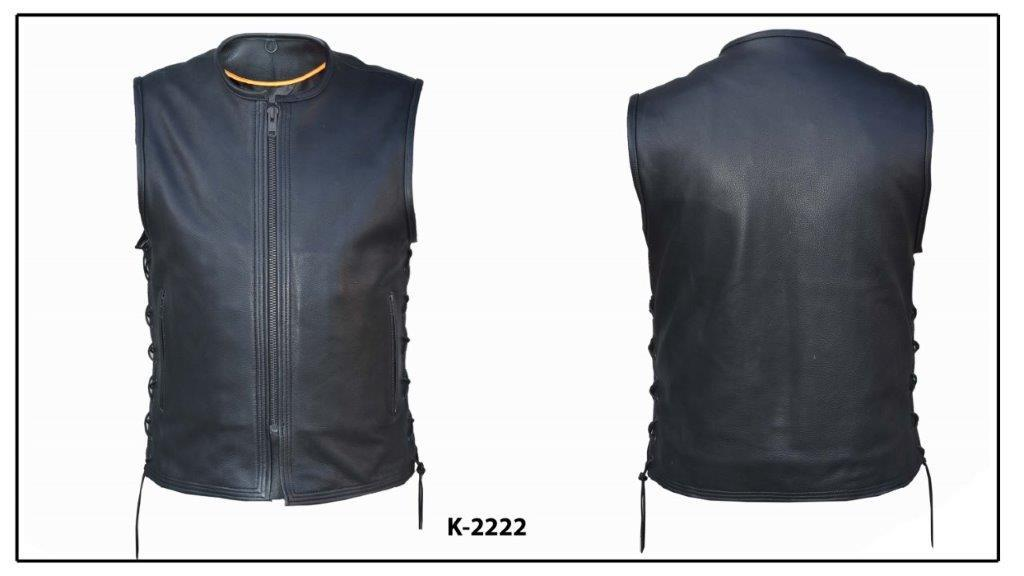 UNIK Men's Ultra Heavy Leather Motorcycle Vest