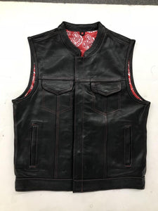 UNIK Men's Vest with Red Paisley Liner