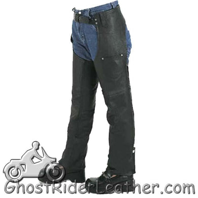 Kids Leather Chaps With Pocket / SKU GRL-KD360-DL