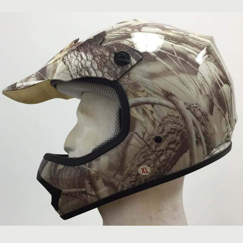 DOT Kids ATV - Dirt Bike - Motocross - Helmets - Camo Leaf - SKU GRL-DOTATVKIDS-CAMOLEAF-HI-dot motorcycle helmet-Ghost Rider Leather