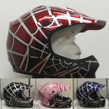 DOT Kids ATV - Dirt Bike - Motocross Helmets - Pink - Black - Blue - Red / SKU GRL-DOTATVKIDSSPIDER-HI - Ghost Rider Leather
