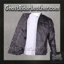Mens Leather Shirt with Snap Closure / SKU GRL-MJ777-SS-DL-mens leather shirt-Ghost Rider Leather