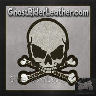 Gray Monster Skull Crossbones Patch / SKU GRL-MK4-DL-biker patch-Ghost Rider Leather