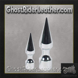 Chrome Plated Metal Helmet Spike in Choice of 3 or 4 Inches / SKU GRL-BY-MET-SPIKE-HI - Ghost Rider Leather