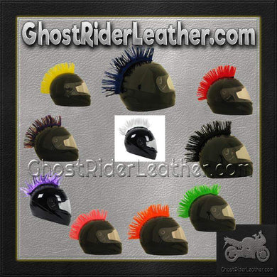Helmet Mohawks - 10 Color Choices - Motorcycle Helmet Accessories / SKU GRL-MOHAWK-HI-bungee motorcycle helmet holder-Ghost Rider Leather