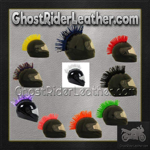Helmet Mohawks - 10 Color Choices - Motorcycle Helmet Accessories / SKU GRL-MOHAWK-HI - Ghost Rider Leather