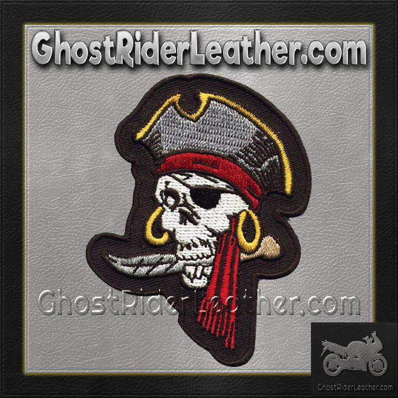 Eye Patch Skull Pirate Motorcycle Patch / SKU GRL-PAT-A35-DL - Ghost Rider Leather