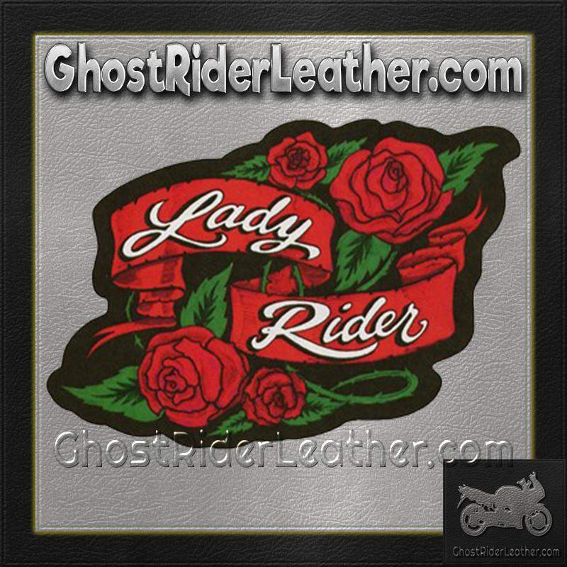 Ladies Lady Rider With Roses Patch / SKU GRL-PAT-A53-DL-military patch-Ghost Rider Leather