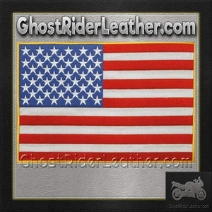 American Flag Vest or Jacket Patch - SKU GRL-PAT-B102-DL - Ghost Rider Leather