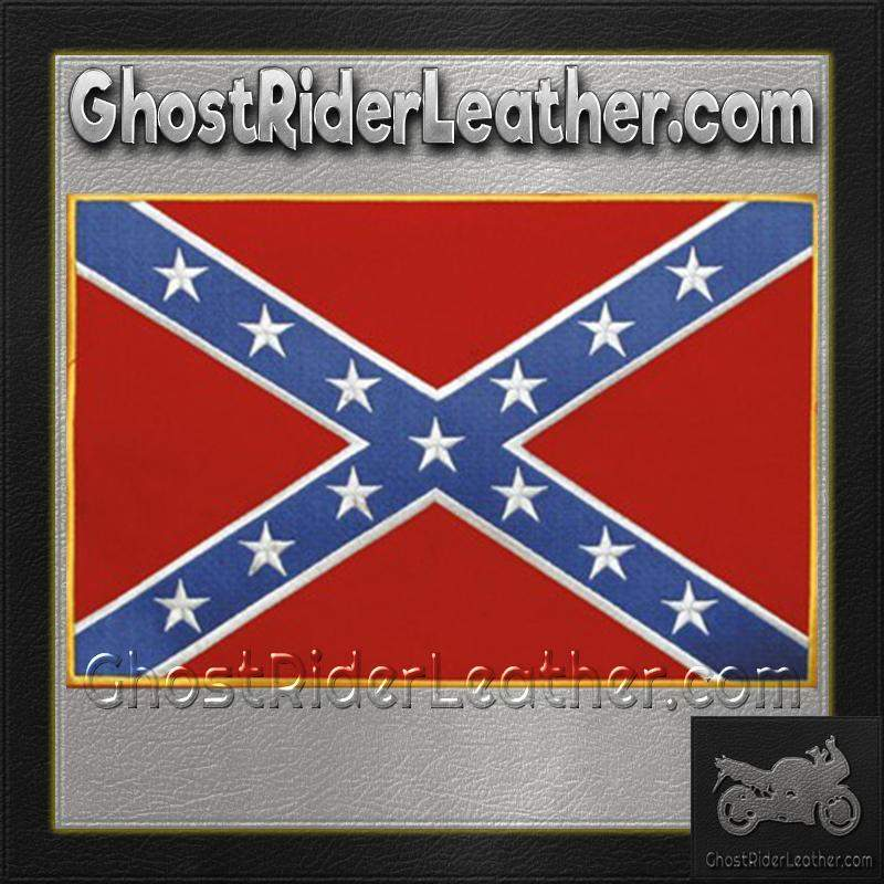 Confederate Flag Patch / SKU GRL-PAT-B103-DL - Ghost Rider Leather
