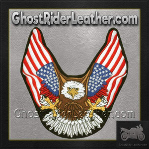 Eagle With American Flat Wings Patch / SKU GRL-PAT-B111-DL - Ghost Rider Leather