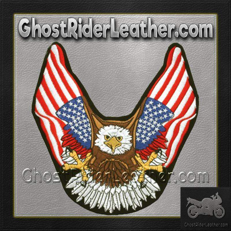 Eagle With American Flat Wings Patch / SKU GRL-PAT-B111-DL-biker patch-Ghost Rider Leather