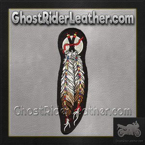 Dual Feather Motorcycle Patch / SKU GRL-PAT-C209-DL-military patch-Ghost Rider Leather