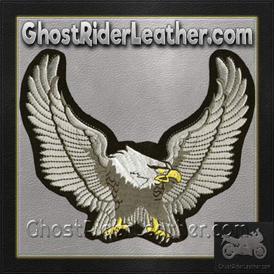 Silver Eagle with Wingspan Patch / SKU GRL-PAT-C214-DL-biker patch-Ghost Rider Leather