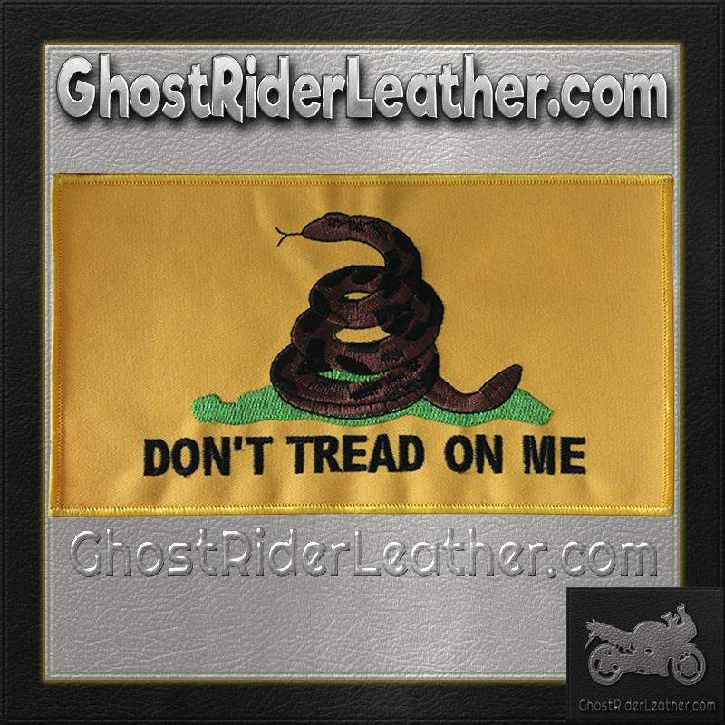 Yellow Gadsden Flag Patch / SKU GRL-PAT-C230-DL - Ghost Rider Leather