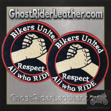 Two Bikers United Respect All Who Ride Patches / SKU GRL-PAT-D575-DL-military patch-Ghost Rider Leather