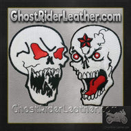 Skull With Red Eyes and Evil Star Skull Patches / SKU GRL-PAT-D597-D598-DL-military patch-Ghost Rider Leather