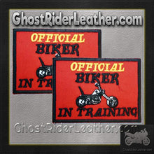 Two Official Biker In Training Patches / SKU GRL-PAT-D610-DL - Ghost Rider Leather