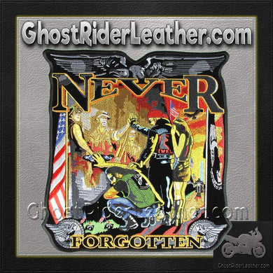 Vietnam Wall - Never Forgotten Vest Patch - Small - SKU GRL-PPA4140-HI - Ghost Rider Leather