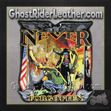 Vietnam Wall - Never Forgotten Vest Patch - Small - SKU GRL-PPA4140-HI-biker patch-Ghost Rider Leather