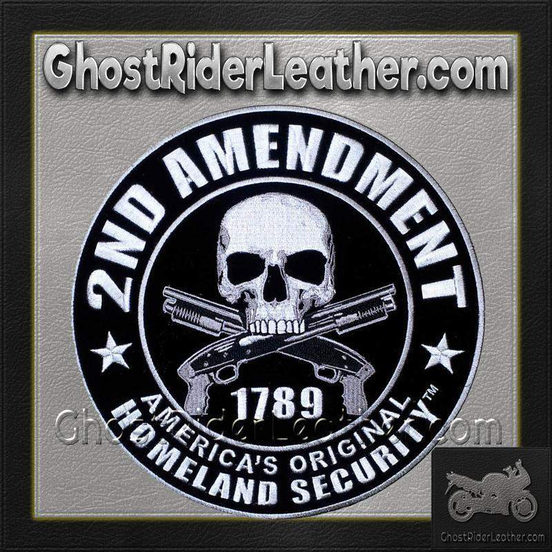 2nd Amendment Original Homeland Security Vest Patch - SKU GRL-PPA5957-HI - Ghost Rider Leather