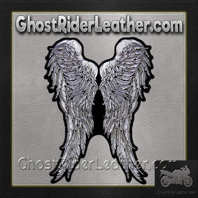 Angel Wings Vest Patch - SKU GRL-PPA8273-HI-biker patch-Ghost Rider Leather