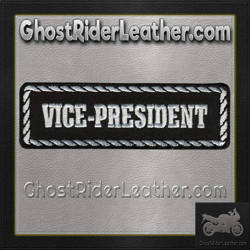 Vice-President Motorcycle Club Vest Patch - SKU GRL-PPD1007-HI-biker patch-Ghost Rider Leather