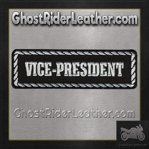 Vice-President Motorcycle Club Vest Patch - SKU GRL-PPD1007-HI - Ghost Rider Leather