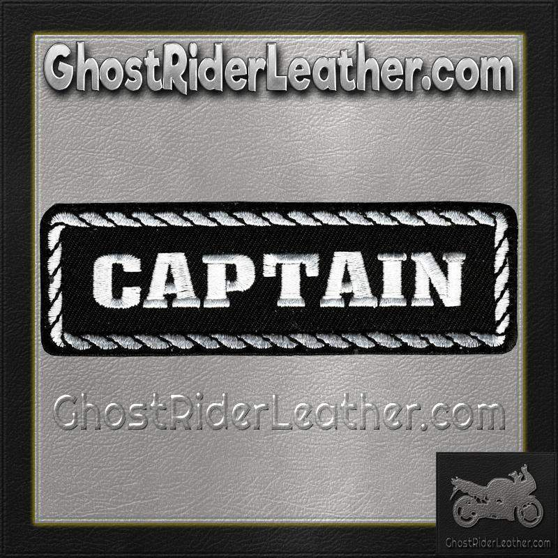 Captain Vest Patch - SKU GRL-PPD1010-HI - Ghost Rider Leather