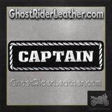 Captain Vest Patch - SKU GRL-PPD1010-HI-biker patch-Ghost Rider Leather