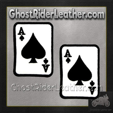 Two Ace of Spades Patches - SKU GRL-PPL9084-X2-HI - Ghost Rider Leather