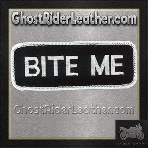 Bite Me Vest Patch - SKU GRL-PPL9088-HI - Ghost Rider Leather