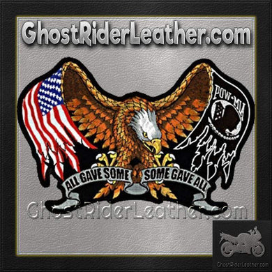 All Gave Some - Some Gave All Patch - Large - SKU GRL-PPA1867-HI - Ghost Rider Leather