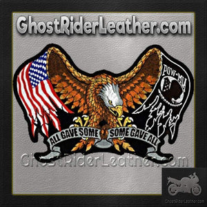 All Gave Some - Some Gave All Patch - Large - SKU GRL-PPA1867-HI-biker patch-Ghost Rider Leather