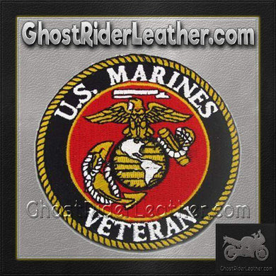 USMC U.S. Marines Veteran Vest Patch - SKU GRL-PPE1150-HI-biker patch-Ghost Rider Leather
