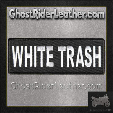 White Trash Vest Patch - SKU GRL-PPL9087-HI - Ghost Rider Leather