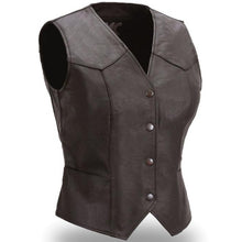 Sweet Sienna - Women's Leather Motorcycle Vest - FML500CR - Ghost Rider Leather